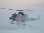 ここはどこ?さんが、札幌飛行場で撮影した北海道警察 412EPの航空フォト(写真)