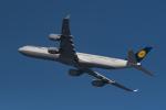 地主さんが、羽田空港で撮影したルフトハンザドイツ航空 A340-642Xの航空フォト(写真)