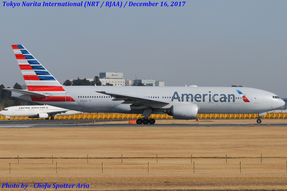 Chofu Spotter Ariaさんのアメリカン航空 Boeing 777-200 (N755AN) 航空フォト