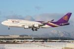 たみぃさんが、新千歳空港で撮影したタイ国際航空 747-4D7の航空フォト(写真)