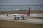 FRTさんが、関西国際空港で撮影したティーウェイ航空 737-8HXの航空フォト(飛行機 写真・画像)