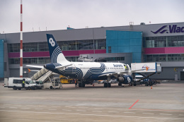 delawakaさんが、ウラジオストク空港で撮影したオーロラ A319-111の航空フォト(飛行機 写真・画像)