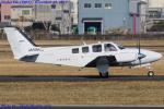 Chofu Spotter Ariaさんが、八尾空港で撮影した朝日航空 G58 Baronの航空フォト(飛行機 写真・画像)