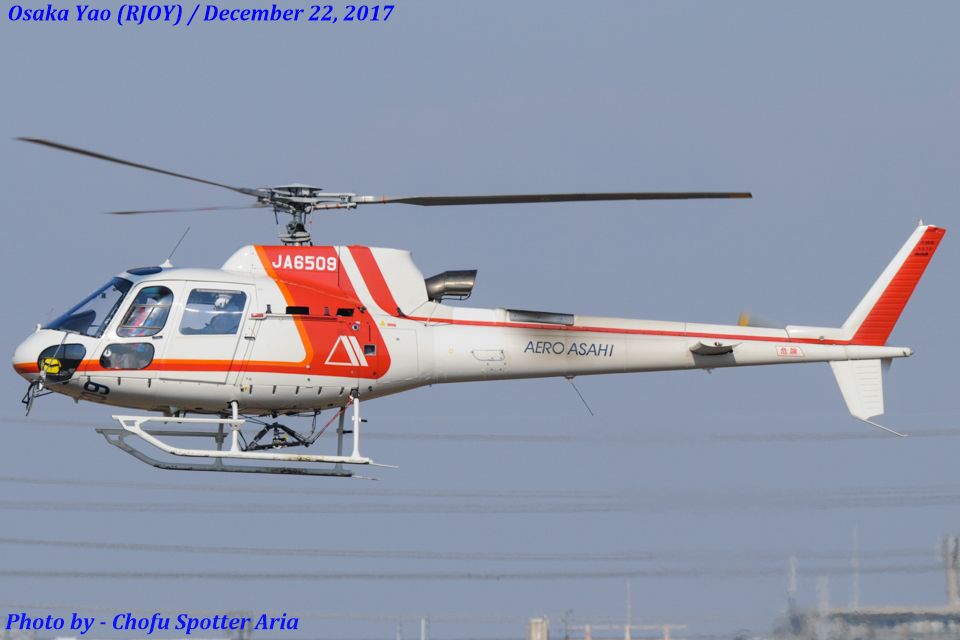 Chofu Spotter Ariaさんの朝日航洋 Eurocopter AS350 Ecureuil/AStar (JA6509) 航空フォト