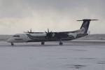 北の熊さんが、新千歳空港で撮影したオーロラ DHC-8-402Q Dash 8の航空フォト(写真)