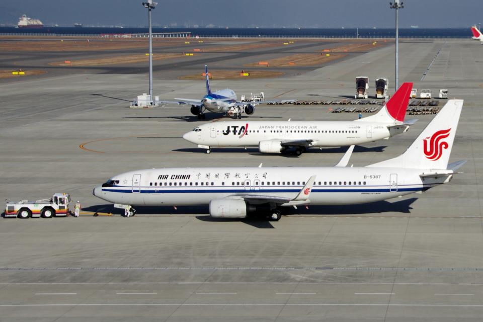yabyanさんの中国国際航空 Boeing 737-800 (B-5387) 航空フォト