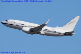 Chofu Spotter Ariaさんが、成田国際空港で撮影したアメリカ企業所有 737-73Q BBJの航空フォト(写真)