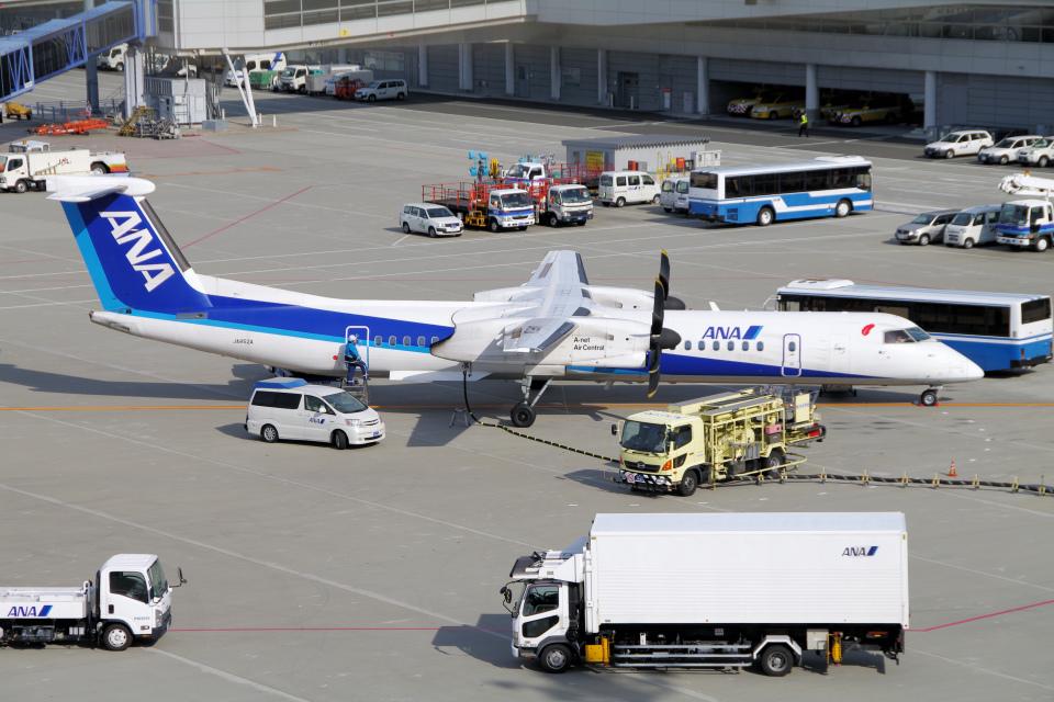 yabyanさんのエアーニッポンネットワーク Bombardier DHC-8-400 (JA852A) 航空フォト