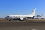 たまさんが、羽田空港で撮影したウェルズ・ファーゴ・バンク・ノースウェスト 737-73Q BBJの航空フォト(写真)