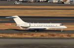 たまさんが、羽田空港で撮影したAIRCRAFT GUARANTY CORP TRUSTEE BD-700-1A11 Global 5000の航空フォト(写真)