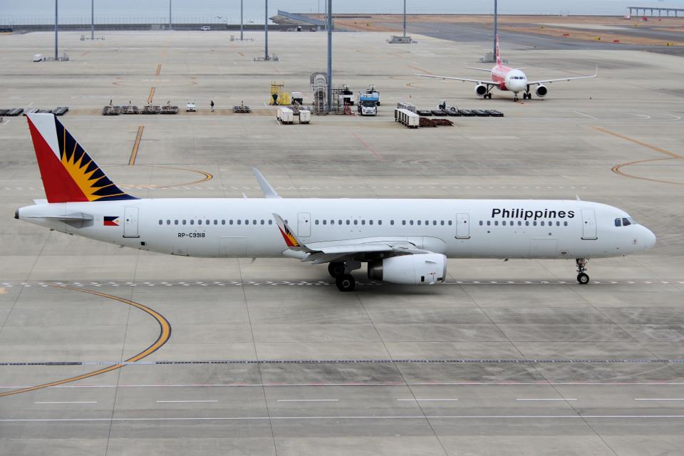 yabyanさんのフィリピン航空 Airbus A321 (RP-C9918) 航空フォト