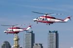 グリスさんが、横浜海上防災基地で撮影した横浜市消防航空隊 AW139の航空フォト(写真)