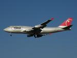 アイスコーヒーさんが、成田国際空港で撮影したノースウエスト航空 747-451の航空フォト(飛行機 写真・画像)