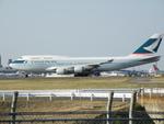 アイスコーヒーさんが、成田国際空港で撮影したキャセイパシフィック航空 747-412の航空フォト(飛行機 写真・画像)