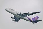 gomaさんが、ミュンヘン・フランツヨーゼフシュトラウス空港で撮影したタイ国際航空 747-4D7の航空フォト(写真)