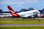 まいけるさんが、シドニー国際空港で撮影したカンタス航空 A380-842の航空フォト(写真)