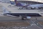 眠たいさんが、関西国際空港で撮影したスターフライヤー A320-214の航空フォト(写真)