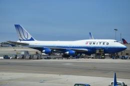 amagoさんが、ロサンゼルス国際空港で撮影したユナイテッド航空 747-422の航空フォト(飛行機 写真・画像)