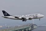 眠たいさんが、関西国際空港で撮影したタイ国際航空 747-4D7の航空フォト(写真)