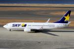 yabyanさんが、中部国際空港で撮影したスカイマーク 737-8FZの航空フォト(飛行機 写真・画像)