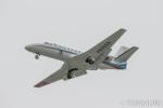 遠森一郎さんが、福岡空港で撮影した朝日新聞社 560 Citation Encoreの航空フォト(写真)