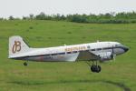 ぽっぽさんが、福島空港で撮影したスーパーコンステレーション飛行協会 DC-3Aの航空フォト(写真)