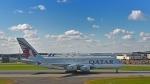 flytaka78さんが、ロンドン・ヒースロー空港で撮影したカタール航空 A380-861の航空フォト(写真)