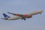 おみずさんが、成田国際空港で撮影したスカンジナビア航空 A340-313Xの航空フォト(写真)