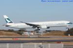 いおりさんが、成田国際空港で撮影したキャセイパシフィック航空 777-367/ERの航空フォト(写真)