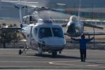 ヘリ神さんが、双葉滑空場で撮影した山梨県防災航空隊 S-76Bの航空フォト(写真)