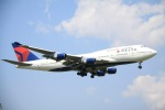 hkg blue skyさんが、成田国際空港で撮影したデルタ航空 747-451の航空フォト(写真)