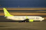 とらとらさんが、羽田空港で撮影したソラシド エア 737-81Dの航空フォト(写真)