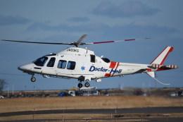 kumagorouさんが、仙台空港で撮影した鹿児島国際航空 AW109SPの航空フォト(飛行機 写真・画像)
