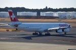 isahighさんが、成田国際空港で撮影したスイスインターナショナルエアラインズ A340-313Xの航空フォト(写真)
