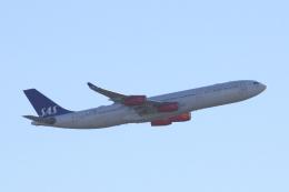 狛犬さんが、サンフランシスコ国際空港で撮影したスカンジナビア航空 A340-313Xの航空フォト(写真)