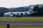 キハとエアバスさんが、青森空港で撮影したチャイナエアライン 737-8FHの航空フォト(写真)