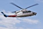ヘリオスさんが、東京ヘリポートで撮影した三菱商事 S-76Dの航空フォト(写真)