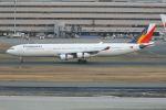 tomoMTさんが、羽田空港で撮影したフィリピン航空 A340-313Xの航空フォト(写真)