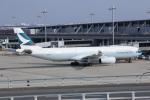 いっとくさんが、関西国際空港で撮影したキャセイパシフィック航空 A330-343Xの航空フォト(写真)