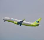 ザキヤマさんが、福岡空港で撮影したジンエアー 737-8SHの航空フォト(写真)
