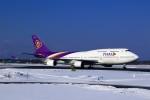 まったり屋さんが、新千歳空港で撮影したタイ国際航空 747-4D7の航空フォト(写真)