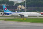 PASSENGERさんが、シンガポール・チャンギ国際空港で撮影した河北航空 737-8LWの航空フォト(写真)