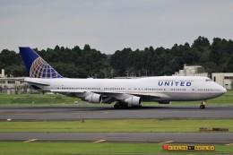 ☆ライダーさんが、成田国際空港で撮影したユナイテッド航空 747-422の航空フォト(飛行機 写真・画像)
