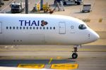 まいけるさんが、スワンナプーム国際空港で撮影したタイ国際航空 A350-941XWBの航空フォト(写真)