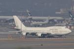 ぽっぽさんが、香港国際空港で撮影したオリエント・タイ航空 747-412の航空フォト(写真)