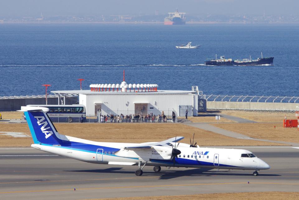 yabyanさんのエアーニッポンネットワーク Bombardier DHC-8-400 (JA854A) 航空フォト
