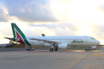 ぽっぽさんが、レオナルド・ダ・ヴィンチ国際空港で撮影したアリタリア航空 A320-216の航空フォト(写真)