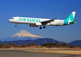 タミーさんが、静岡空港で撮影したエアソウル A321-231の航空フォト(写真)