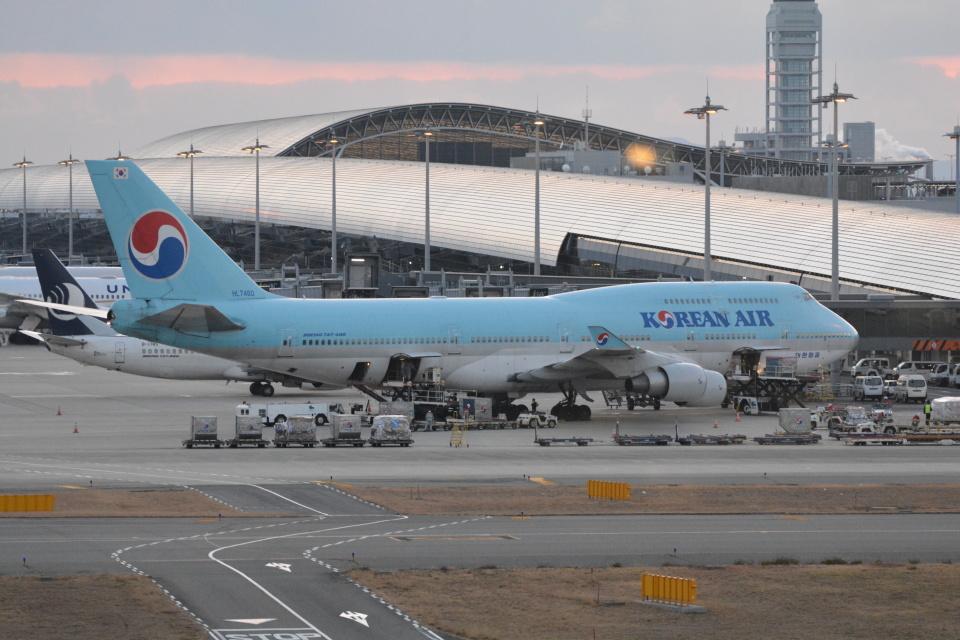 LEGACY-747さんの大韓航空 Boeing 747-400 (HL7460) 航空フォト