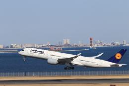 おっしーさんが、羽田空港で撮影したルフトハンザドイツ航空 A350-941の航空フォト(飛行機 写真・画像)